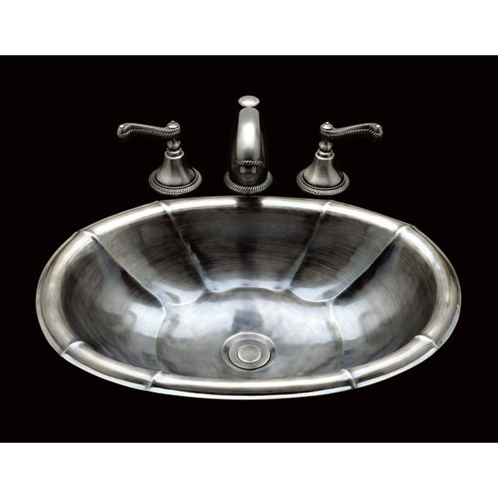 Oval drop in bathroom sink - B1015