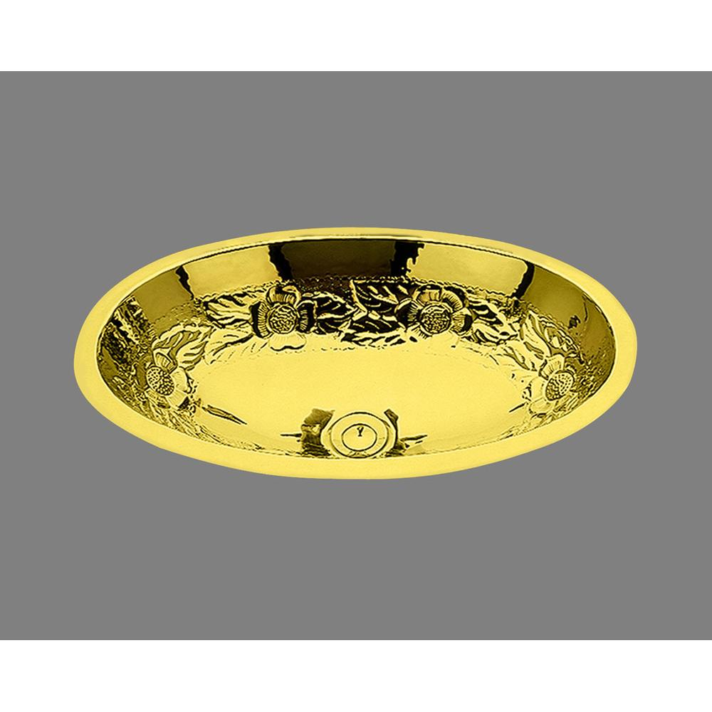 CP - Oval Shaped Lavatory, Garland Pattern, Undermount & Drop In