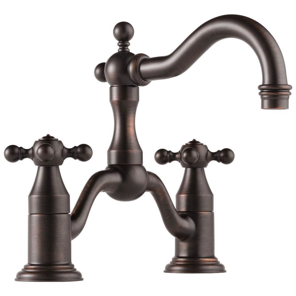 Brizo 65538lf Rb Eco Tresa Two Handle Widespread Bridge Lavatory Faucet