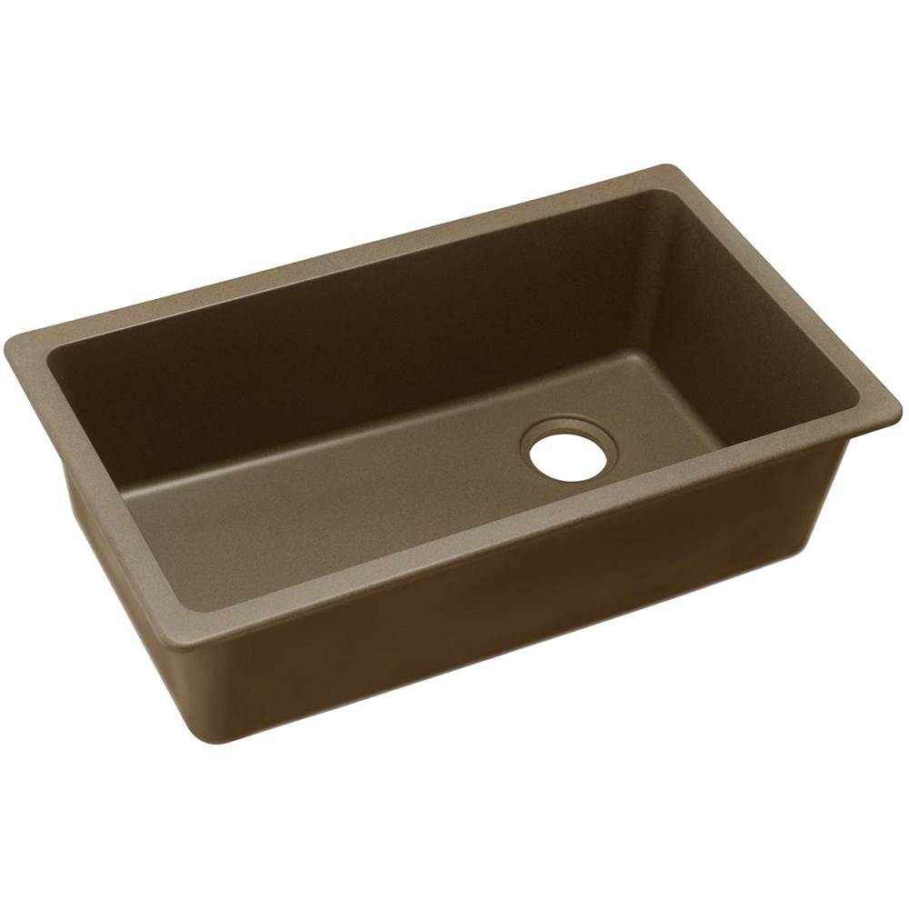 Elkay Elgu13322mc0 Quartz Clic 33 X 18 3 4 9 1 2 Single Bowl Undermount Sink Mocha