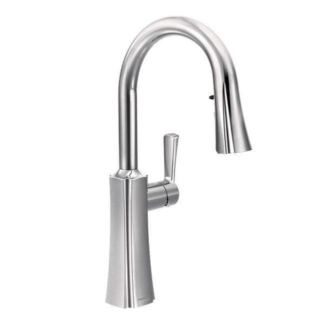 kitchen faucets single hole kitchen bath design center san s72608 moen etch 1h pd trans kitchen chr chrome single hole kitchen faucets details wish list