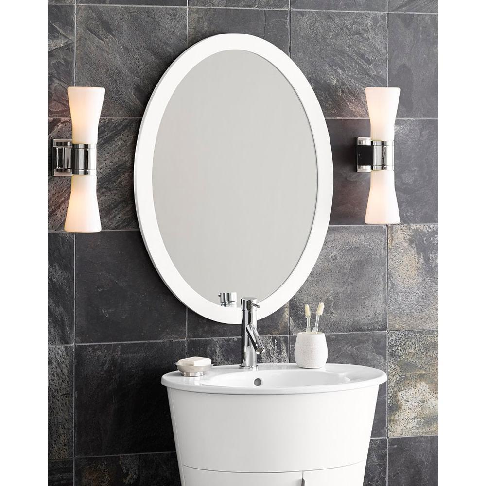 Oval framed bathroom mirrors - 600023 E23 Ronbow 23 Contemporary Solid Wood Framed Oval Bathroom