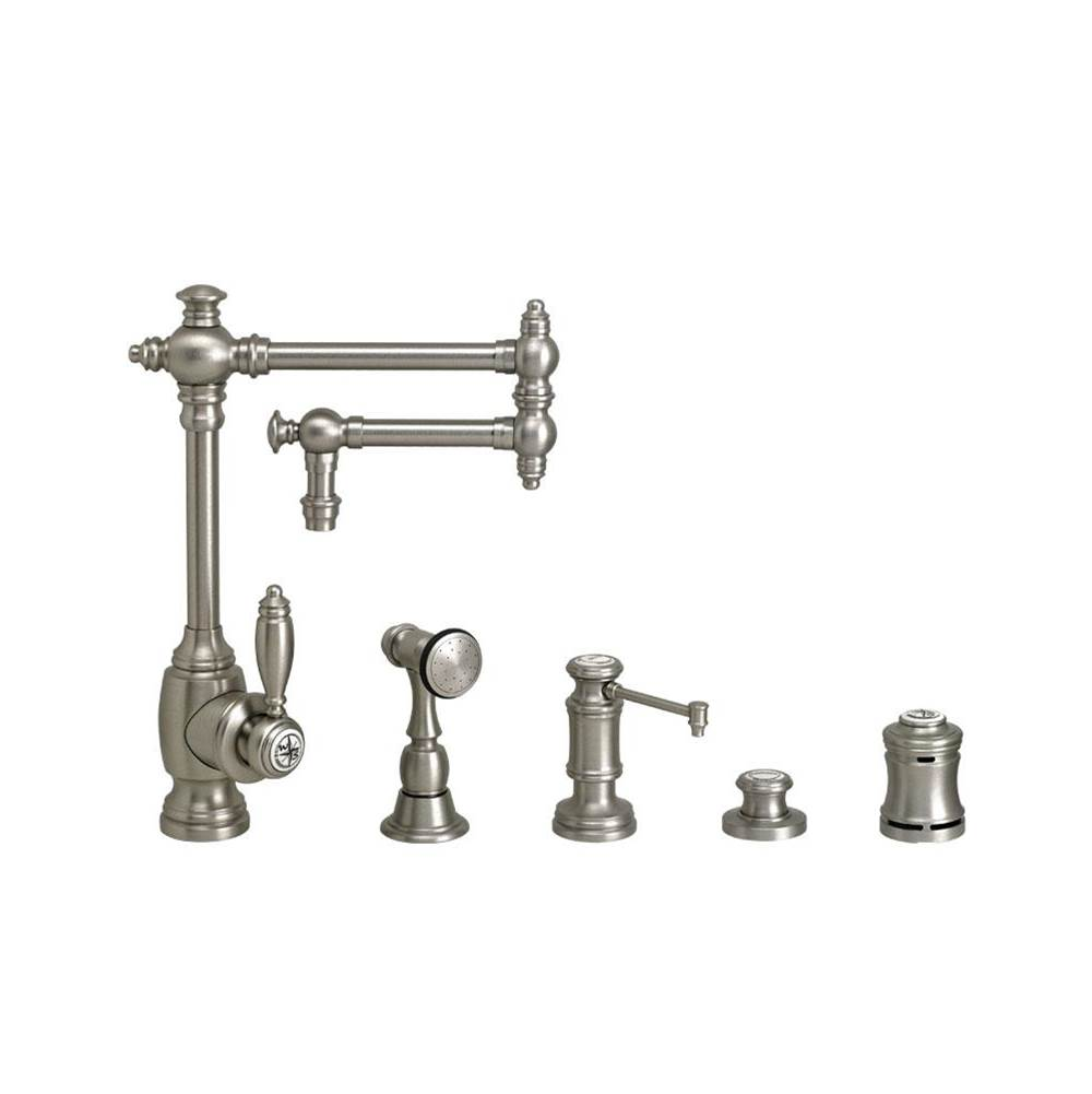Waterstone Single Hole Kitchen Faucets item 4100-12-4-PG