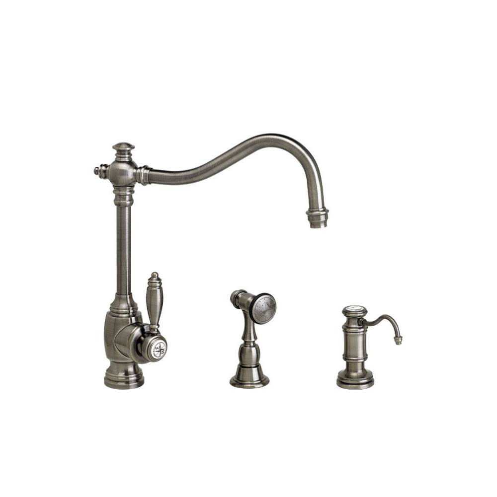Waterstone Single Hole Kitchen Faucets item 4200-2-SG